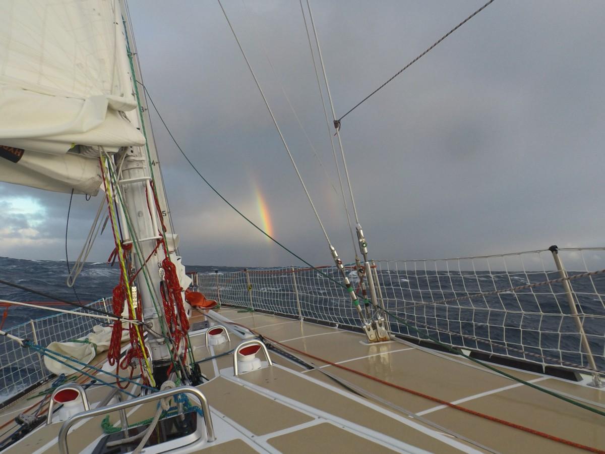 Rainbow through the storm